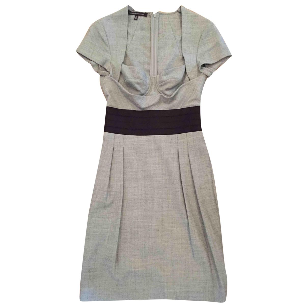 Alessandro Dellacqua - Robe   pour femme en laine - gris
