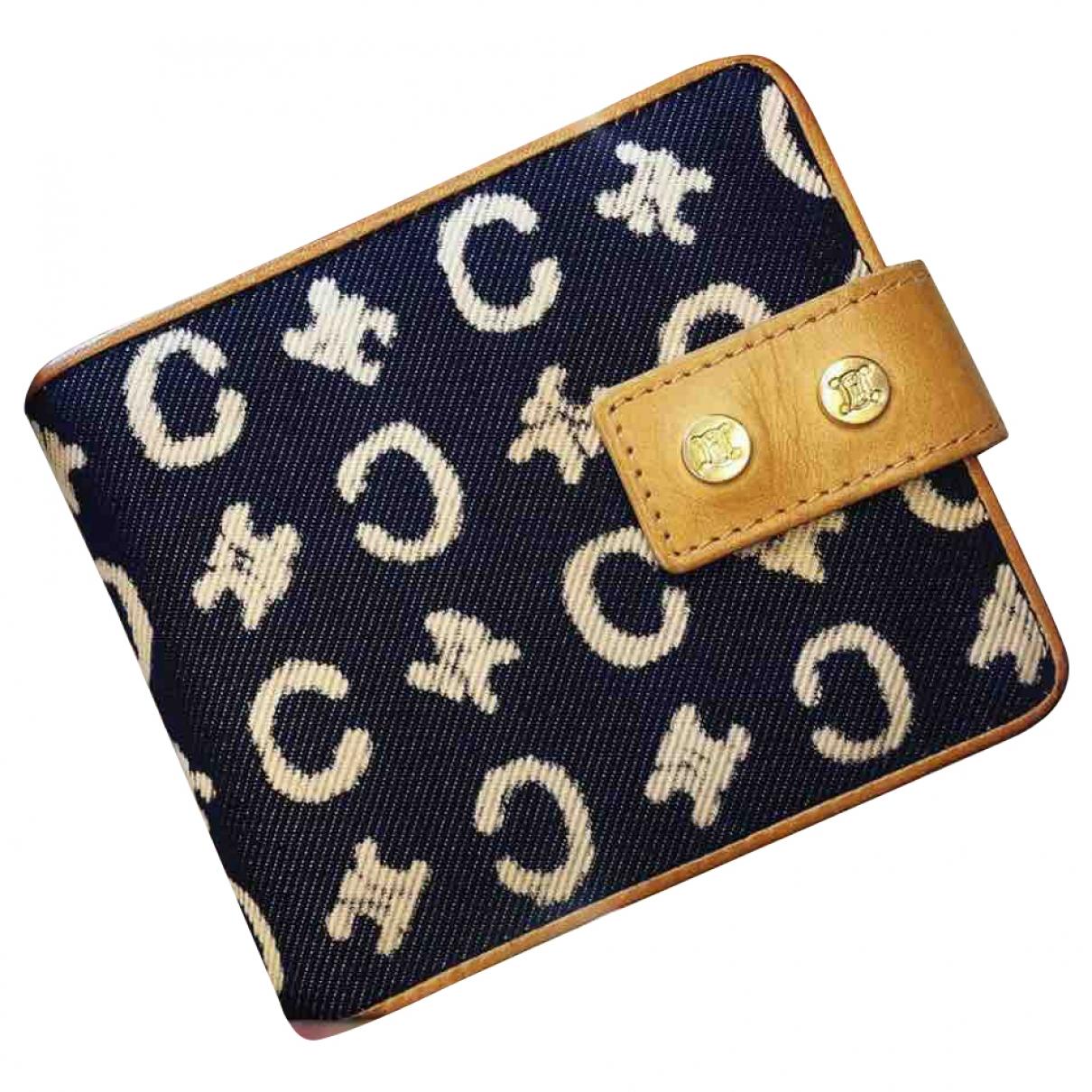 Celine - Portefeuille   pour femme en toile - bleu