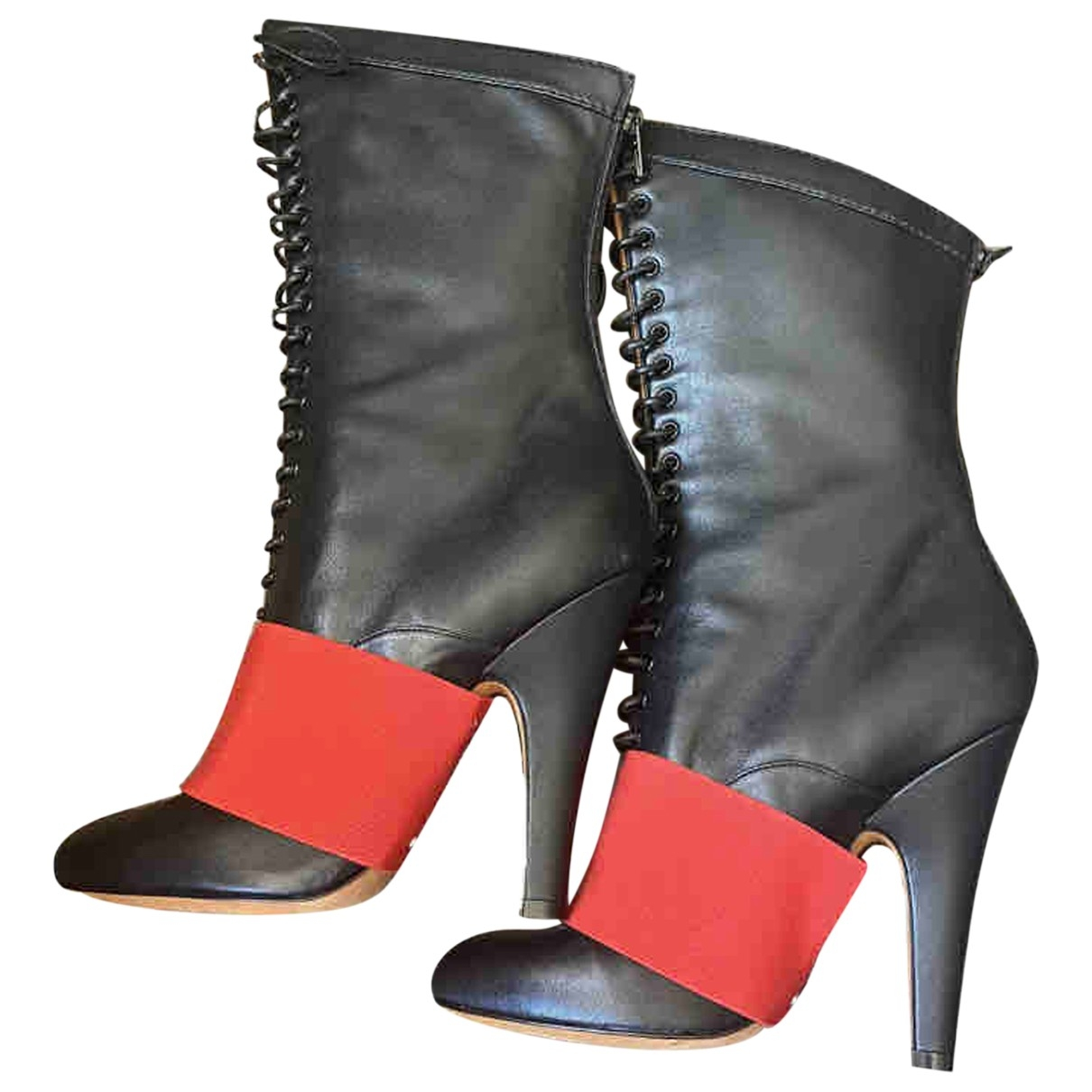 Givenchy \N Black Leather Boots for Women 37 EU
