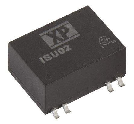 XP Power ISU02 2W Isolated DC-DC Converter Surface Mount, Voltage in 4.5 → 12 V dc, Voltage out 12V dc