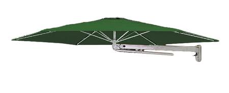 SU7 Series KITP7SQ30WFOGRN (A) Rotating 910/3m Square Cantilever Umbrella with Wall Mounted Fixing in Olive