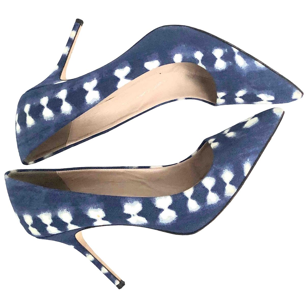 J.crew - Escarpins   pour femme en toile - bleu