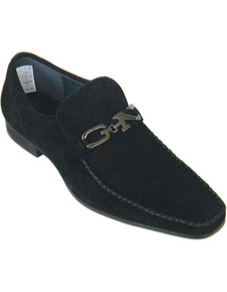 Men's Black Loafers Style Soft Upper Moc Toe Authentic Zota Brand