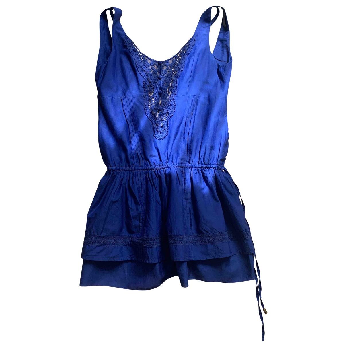 Patrizia Pepe \N Blue Cotton dress for Women 42 IT