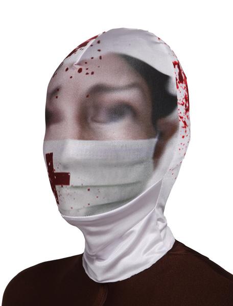 Milanoo Disfraz Halloween Mascara de lycra spandex de enfermera Halloween