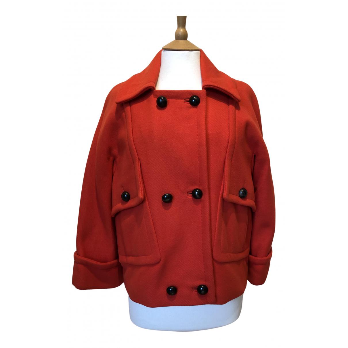Comptoir Des Cotonniers - Veste   pour femme en laine - rouge