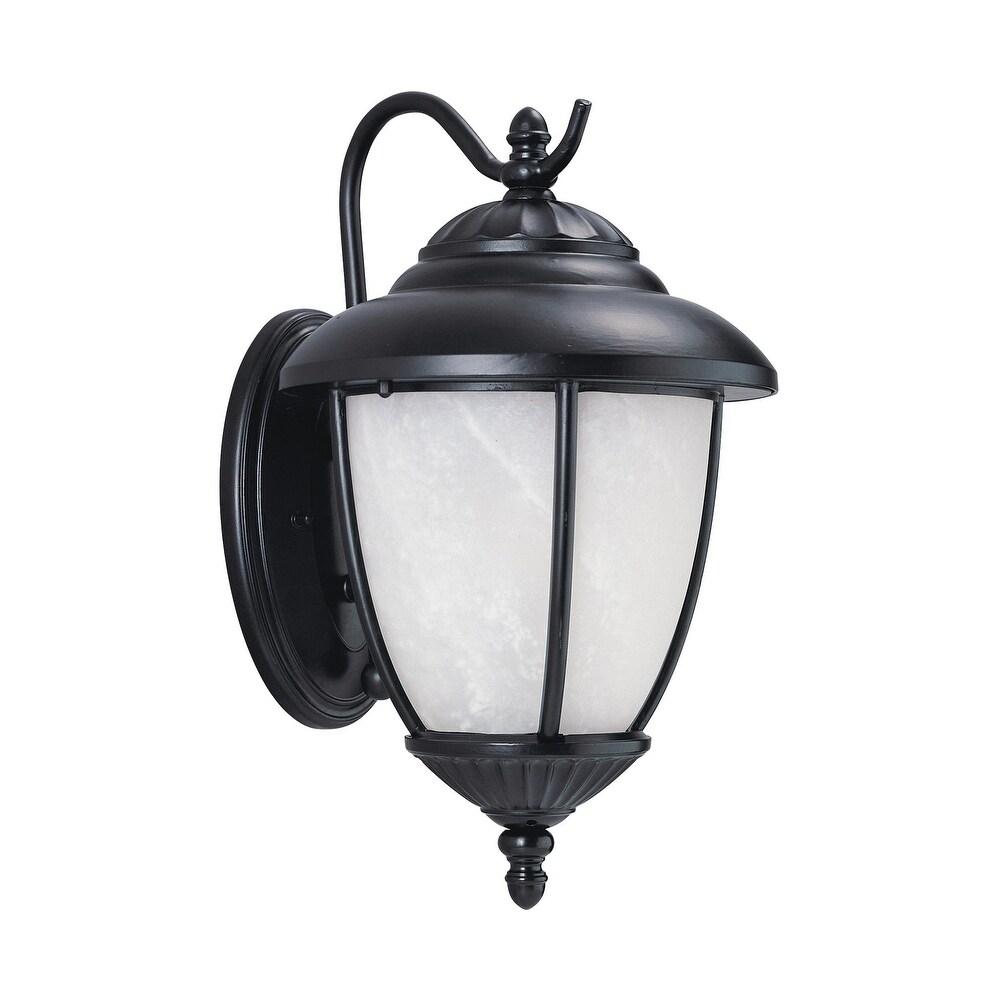 Sea Gull Yorktown Black 1-light Outdoor Wall Lantern (Black)