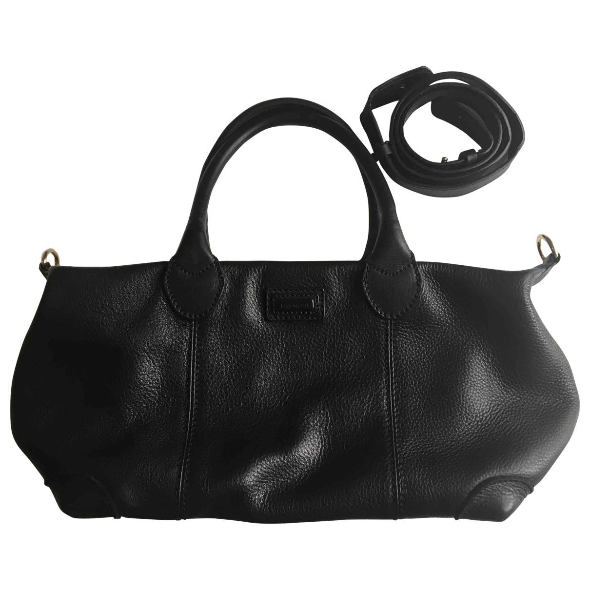 Uterque - Sac a main   pour femme en cuir - noir