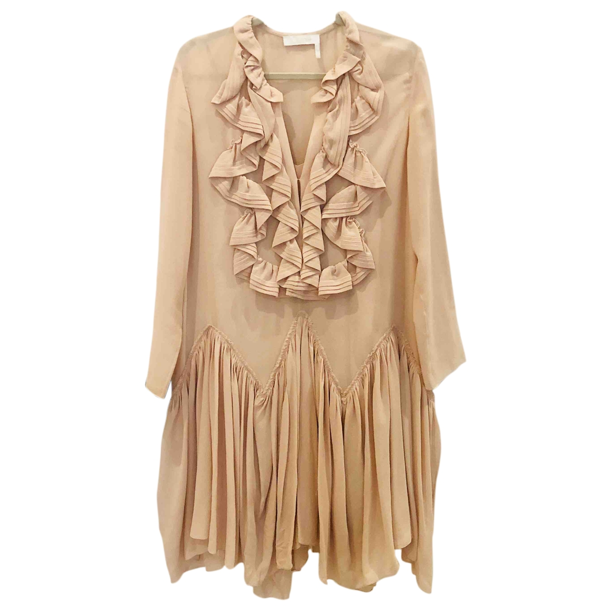 Chloé \N Pink Silk dress for Women 36 FR