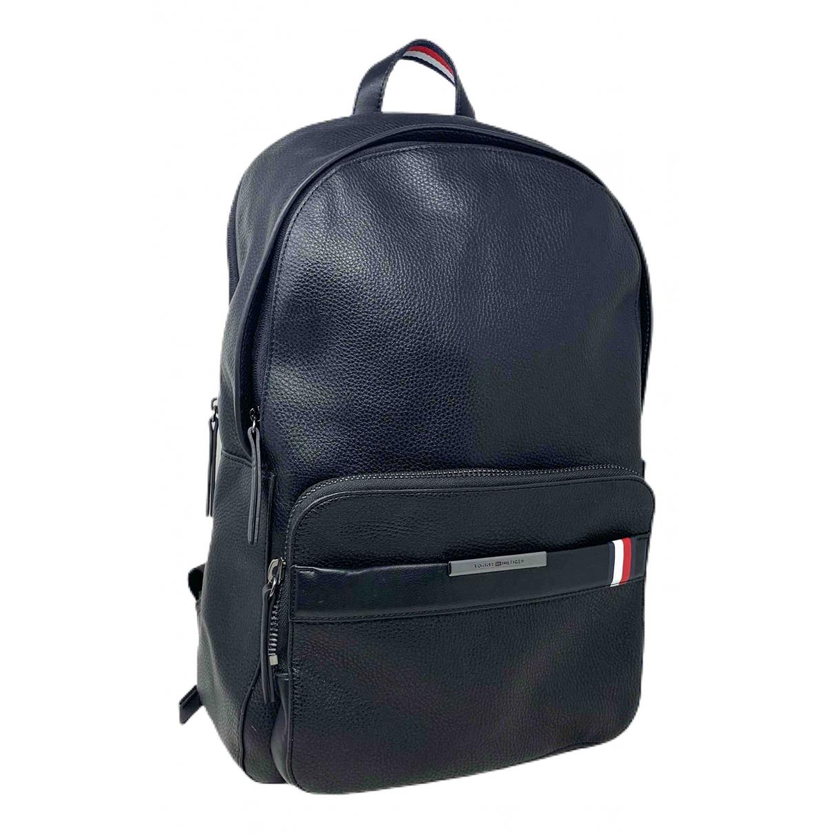 Tommy Hilfiger \N Black Leather backpack for Women \N