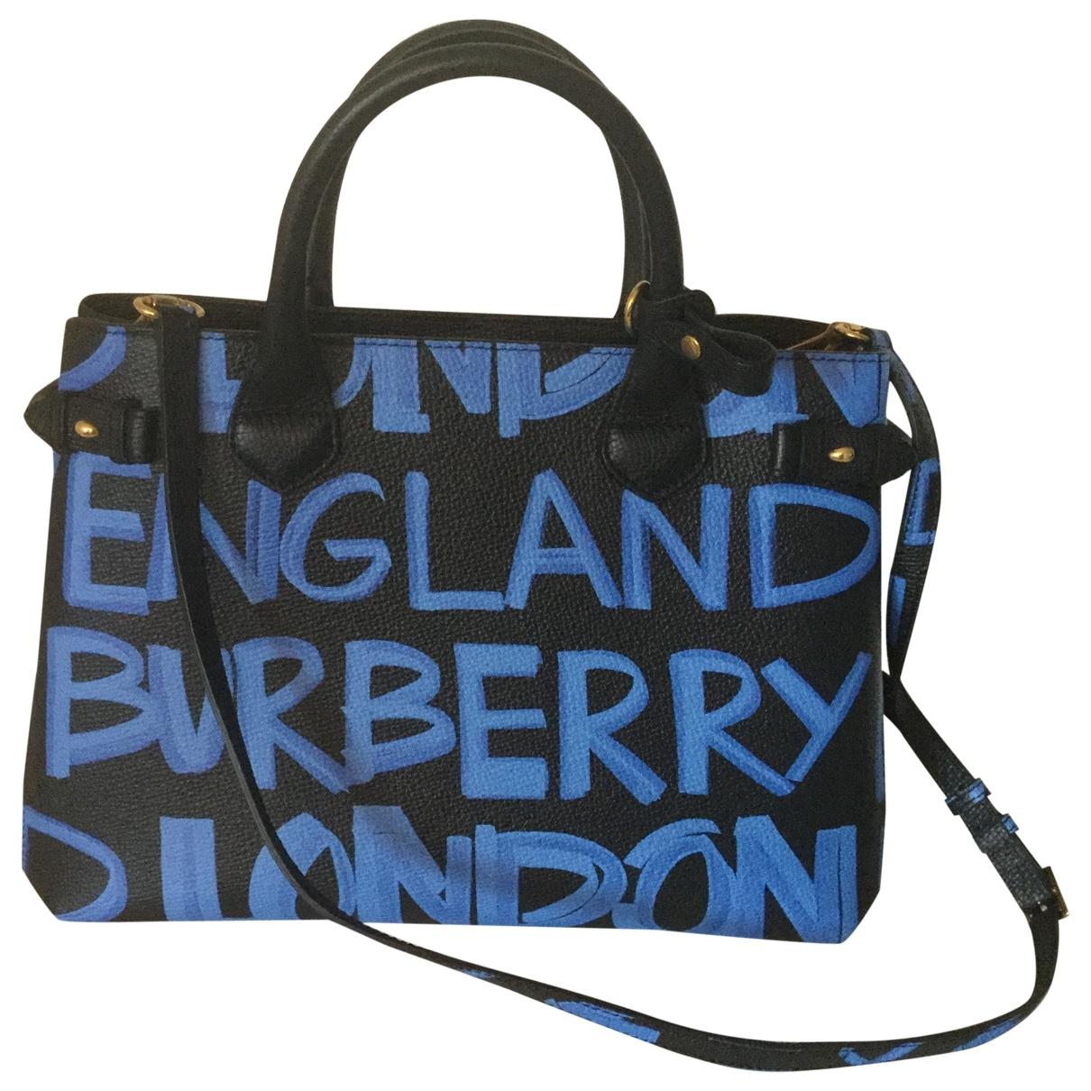 Burberry - Sac a main The Banner  pour femme en cuir - noir