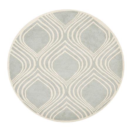 Safavieh Jerred Geometric Hand Tufted Wool Rug, One Size , Gray