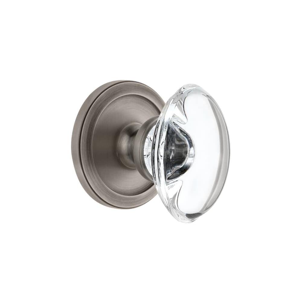 Grandeur CIRPRO_PRV_234 Circulaire Solid Brass Rose Privacy Door Knob (Polished Brass)