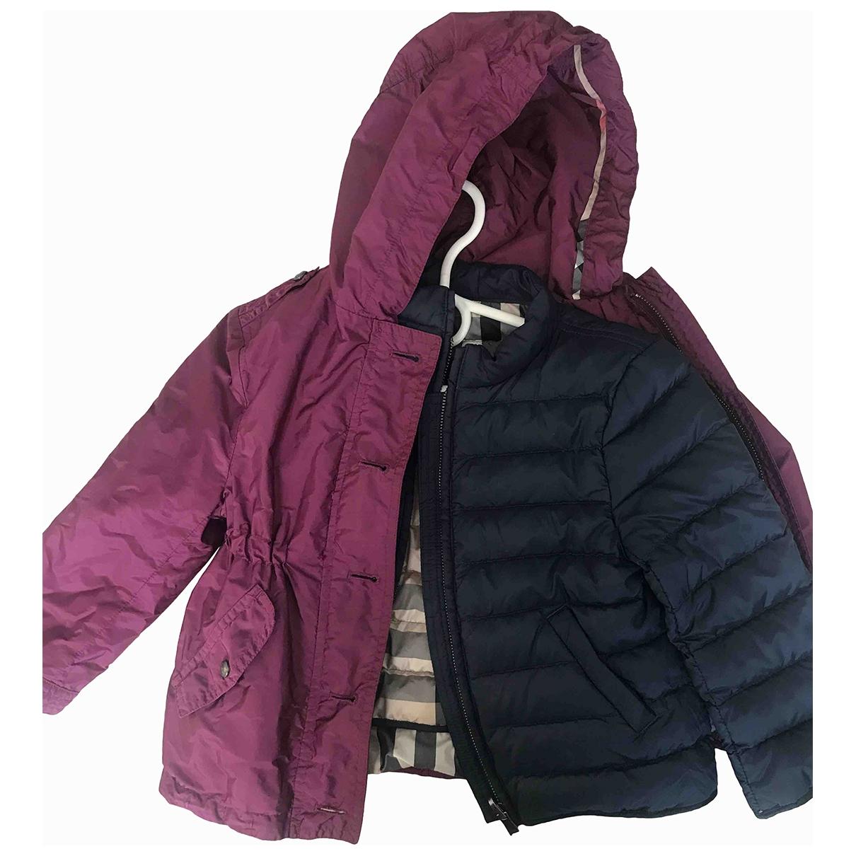 Burberry - Blousons.Manteaux   pour enfant - violet