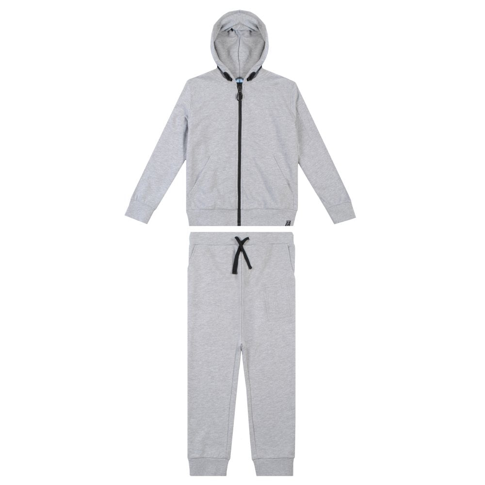 Lanvin Kids Grey Cotton Tracksuit Colour: GREY, Size: 10 YEARS