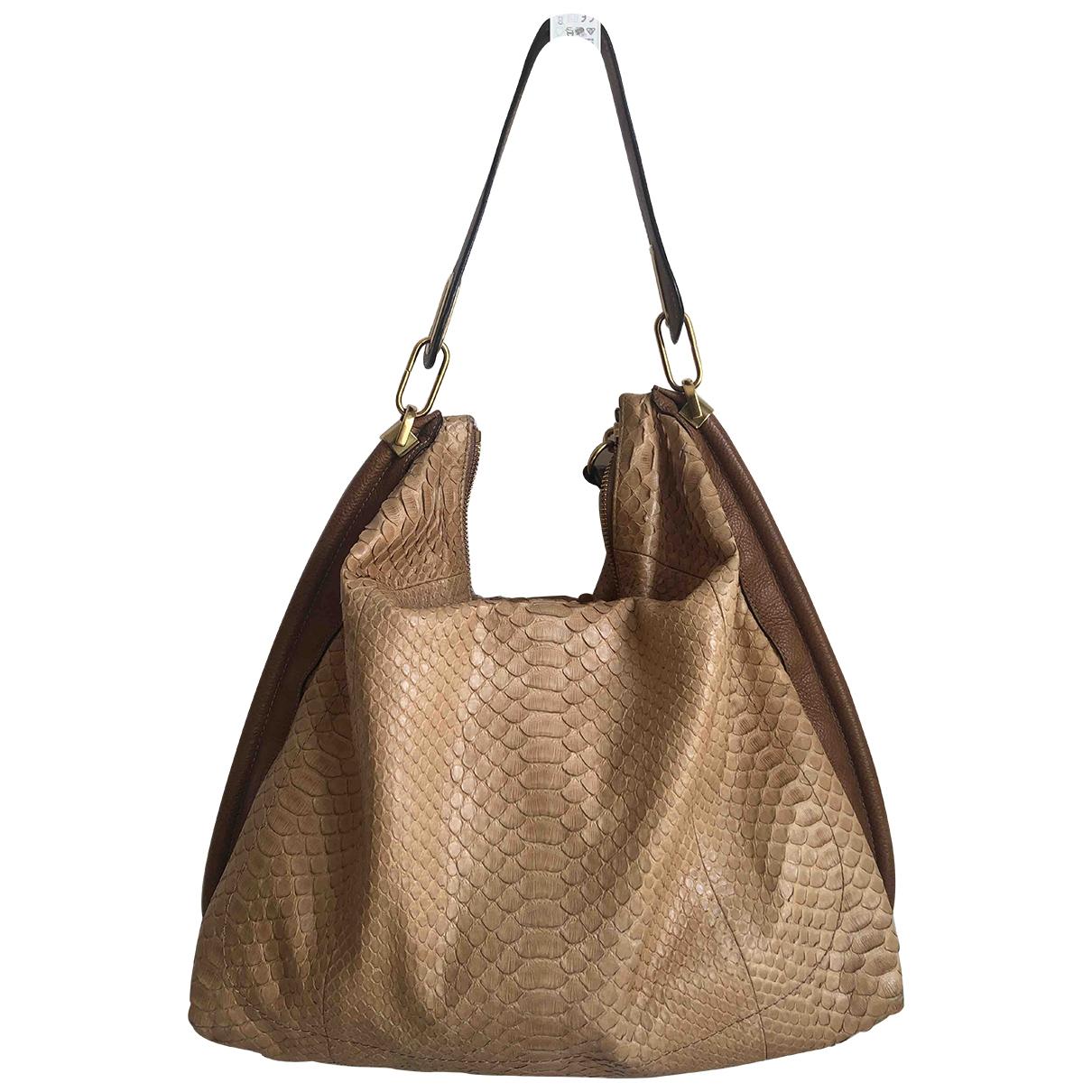 Chloé \N Beige Python handbag for Women \N