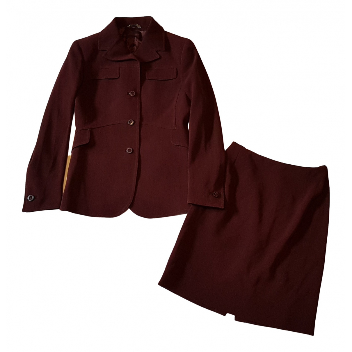 Gianni Versace \N Burgundy Wool jacket for Women 40 IT