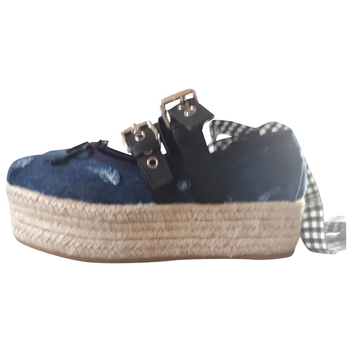 Miu Miu \N Espadrilles in  Blau Denim - Jeans