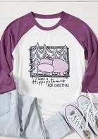 I Want A Hippopotamus For Christmas Baseball T-Shirt Tee