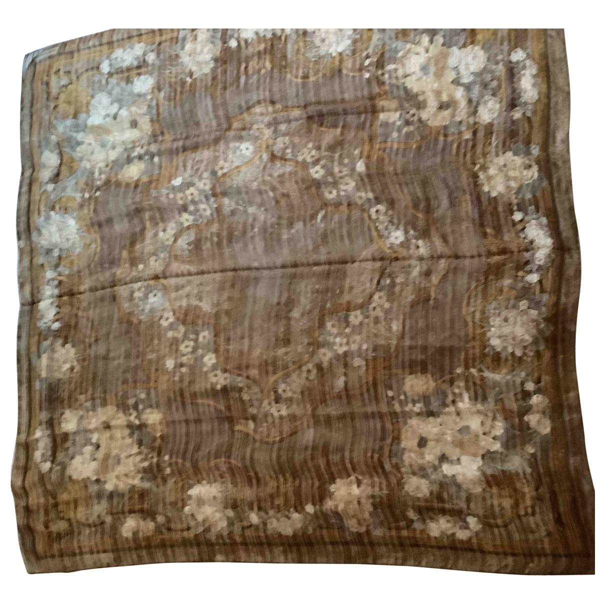 Valentino Garavani \N Brown Silk Silk handkerchief for Women \N