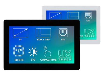 Riverdi RVT50UQBNWC01 TFT LCD Colour Display / Touch Screen, 5in, 800 x 480