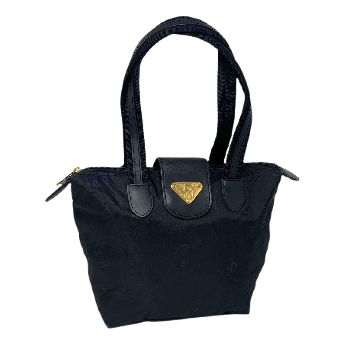 Mollerus \N Handtasche in  Schwarz Leinen