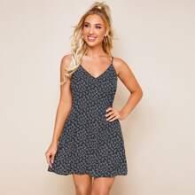 Ditsy Floral V-Neck Mini Cami Dress