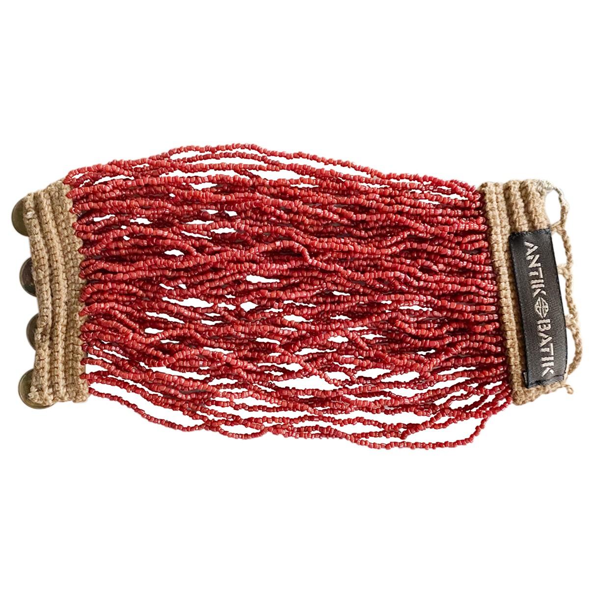 Antik Batik - Bracelet   pour femme en perles - rouge