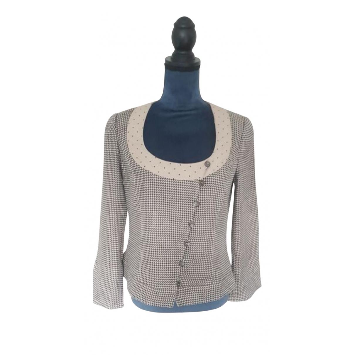 Armani Collezioni N Beige Linen jacket for Women 46 IT