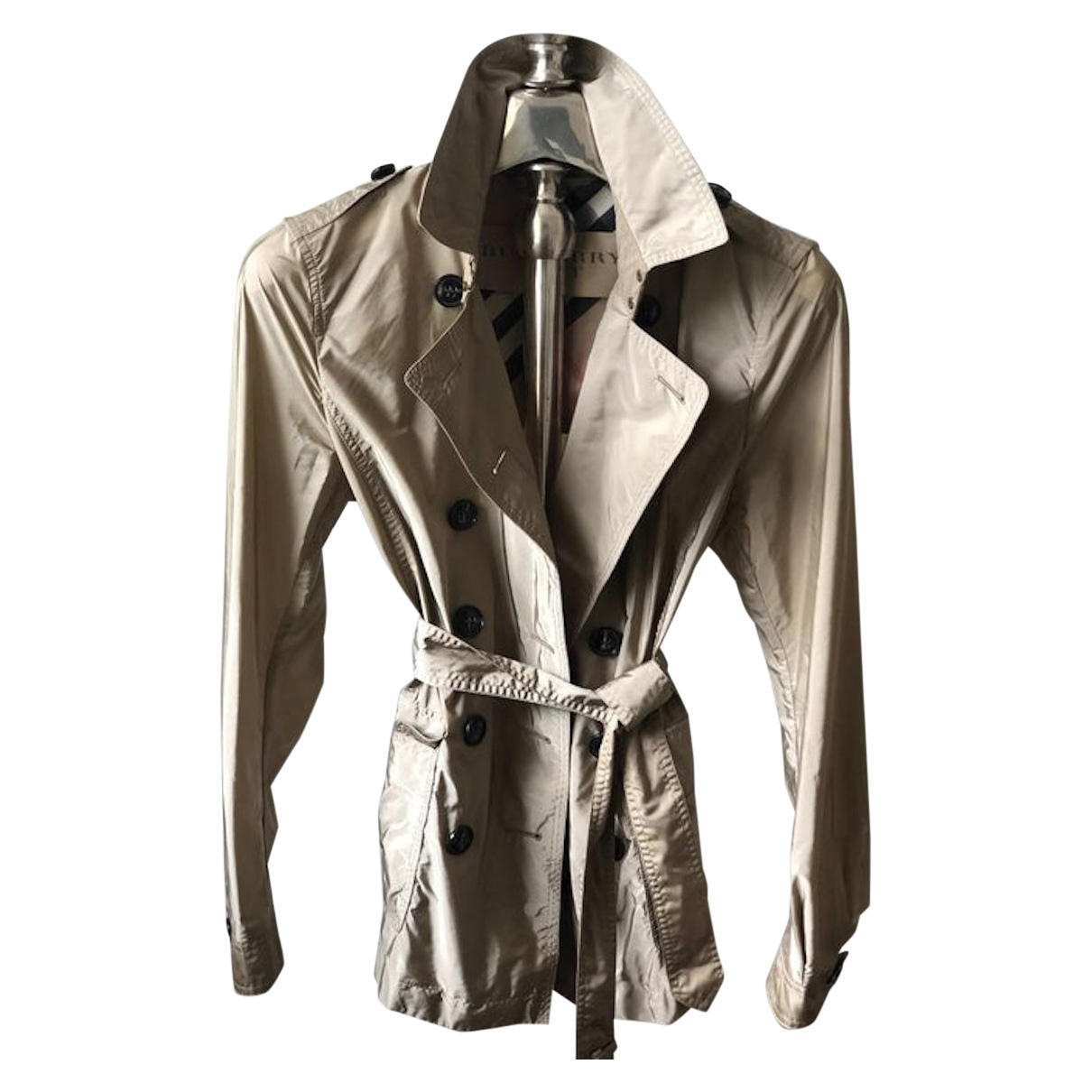 Burberry \N Beige Trench coat for Women 38 FR
