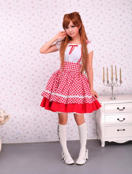 Milanoo Vestido de lolita de algodon con manga corta