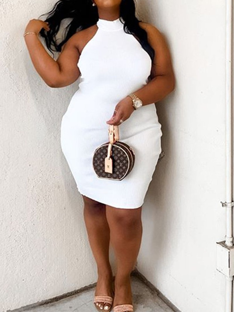 Ericdress Sleeveless Above Knee Summer Pullover Dress