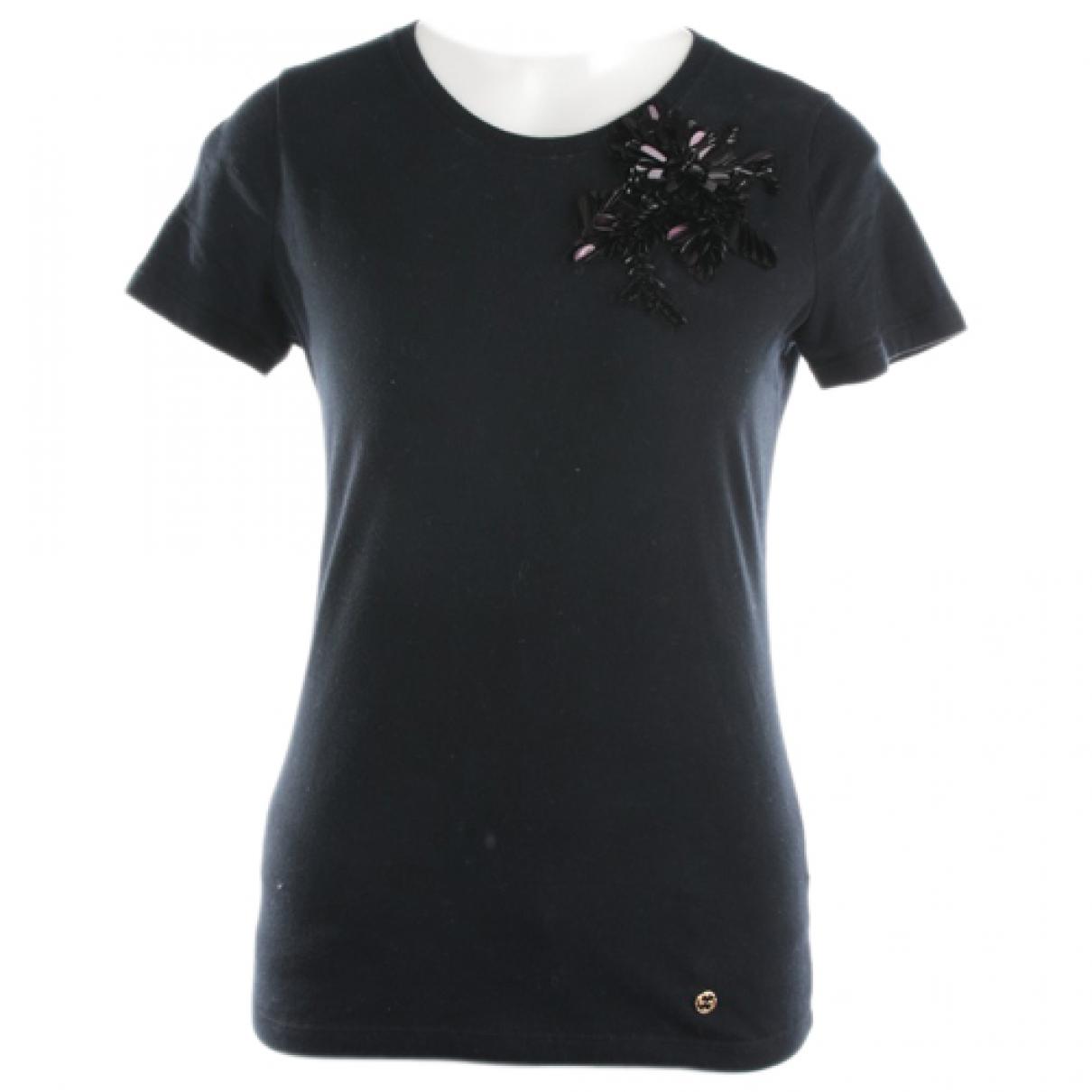 Gucci - Top   pour femme en coton - noir