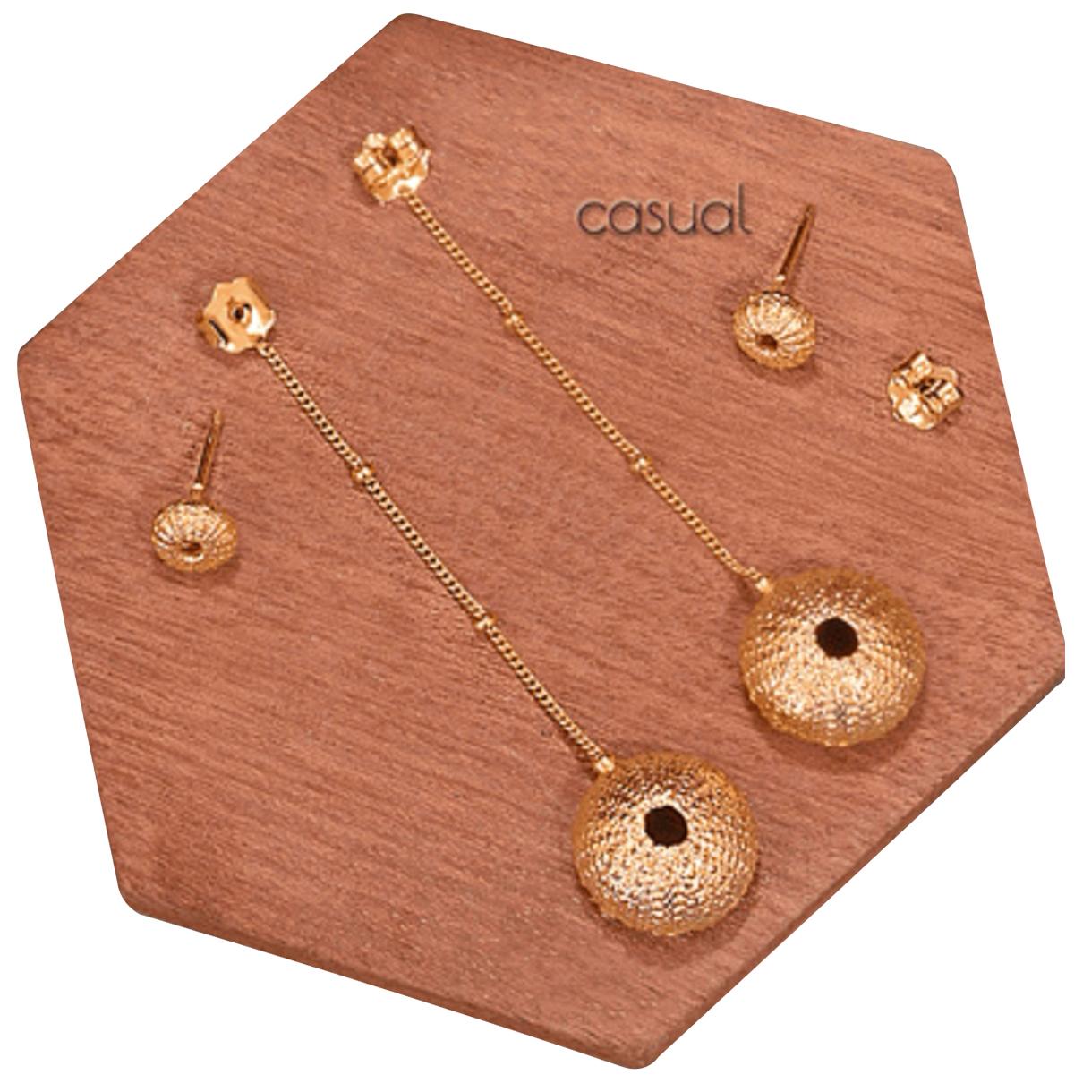 - Boucles doreilles Motifs Coquillages pour femme en plaque or - dore