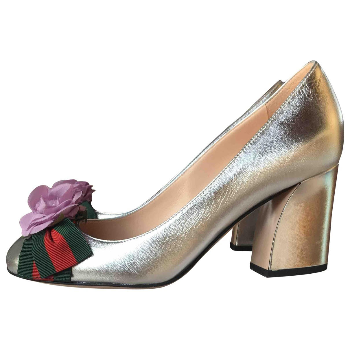 Gucci \N Silver Leather Heels for Women 36 EU