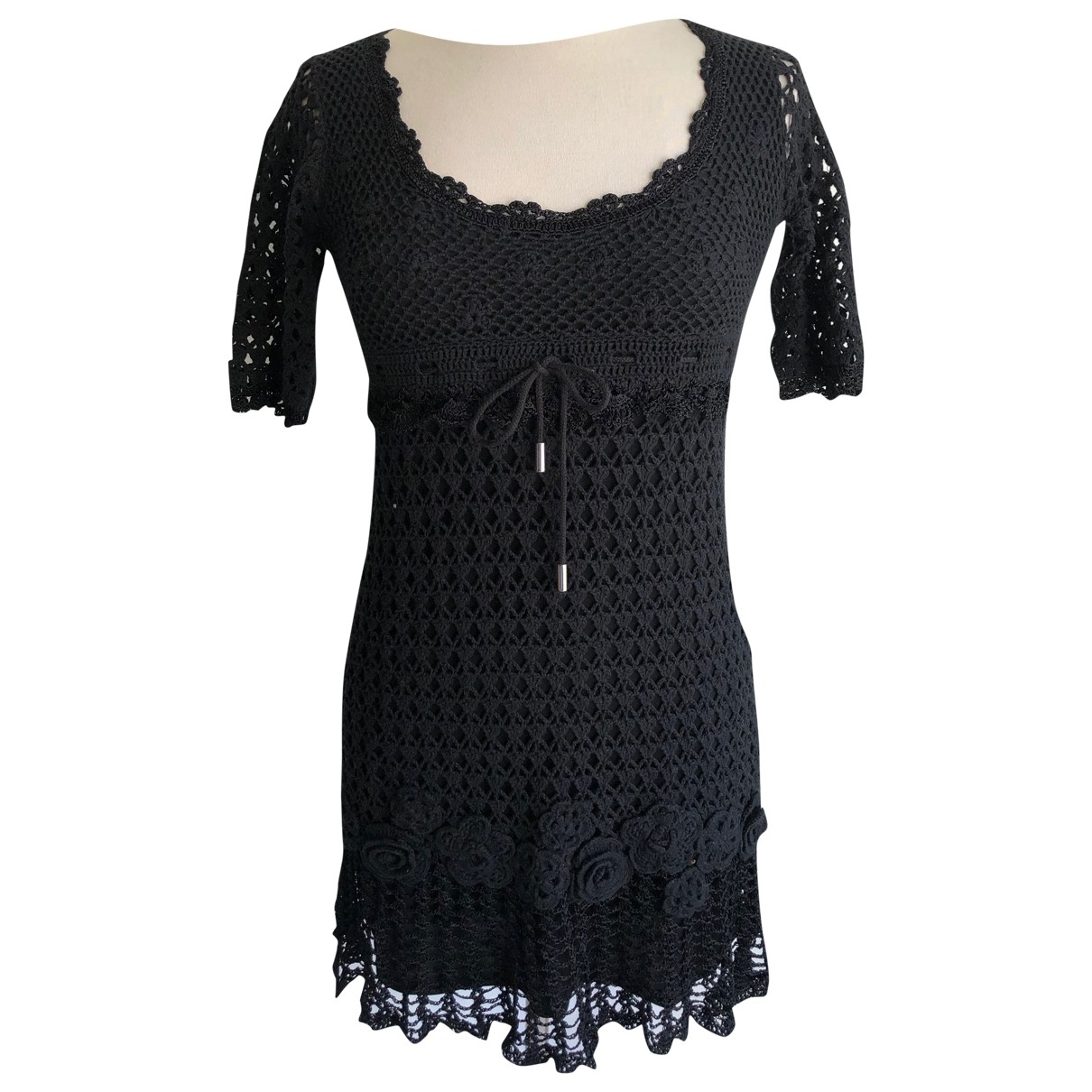 Karen Millen \N Black Cotton dress for Women 2 0-5