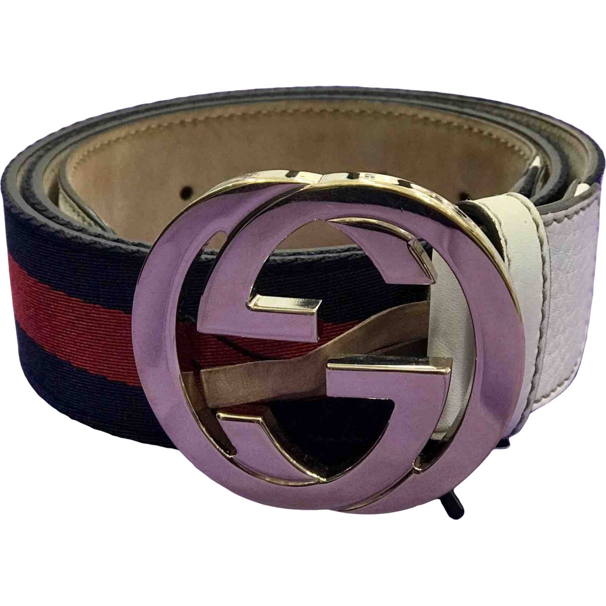 Gucci Interlocking Buckle Multicolour Cloth belt for Women 90 cm