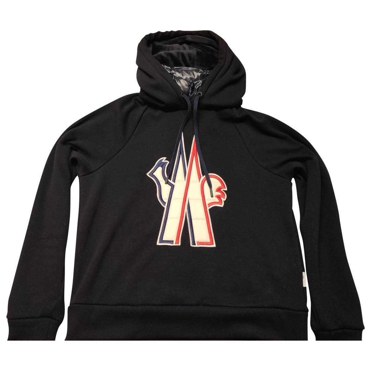 Moncler \N Pullover.Westen.Sweatshirts  in  Schwarz Baumwolle