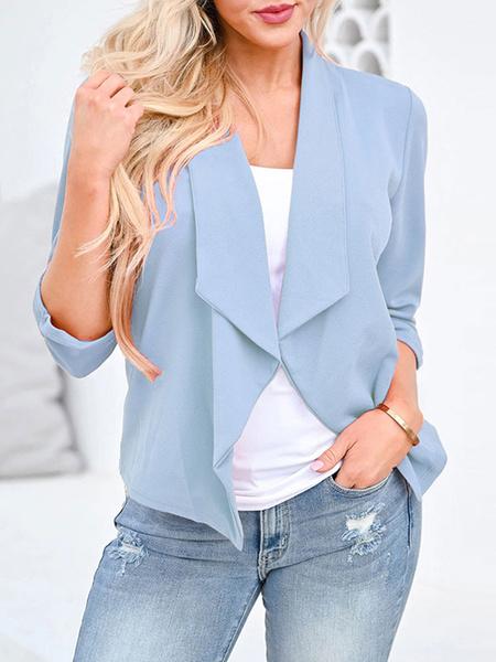 Milanoo Women\'s Blazer Stylish Long Sleeves Polyester Street Wear Blazer