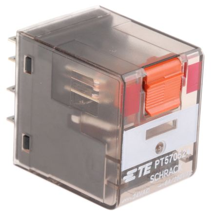 TE Connectivity , 24V ac Coil Non-Latching Relay 4PDT, 6A Switching Current PCB Mount, 4 Pole