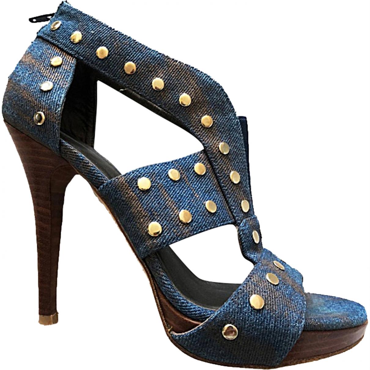 Stuart Weitzman \N Blue Cloth Sandals for Women 38.5 EU