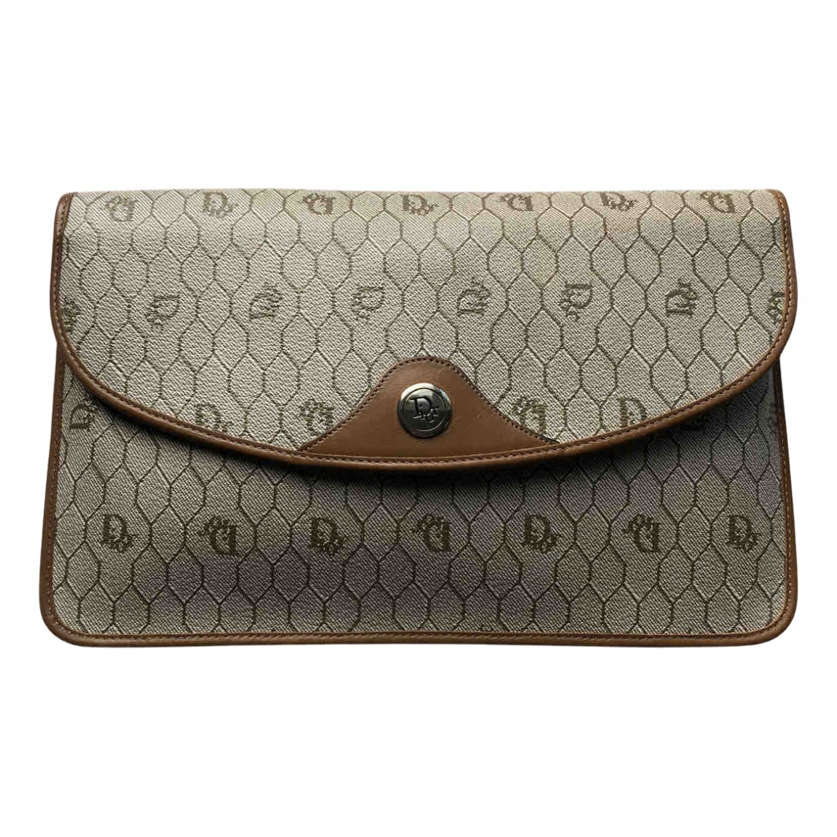 Dior \N Clutch in  Beige Leinen