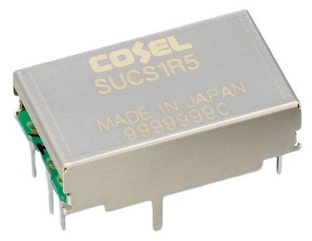 Cosel 1.5W Isolated DC-DC Converter Through Hole, Voltage in 9 → 18 V dc, Voltage out 15V dc