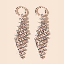 Geometrische Ohrringe mit Strass Dekor