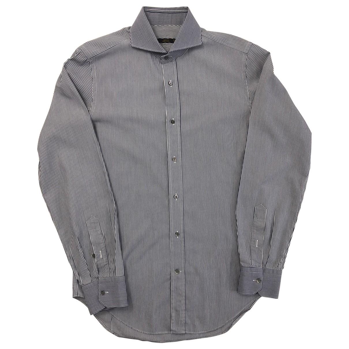 Mauro Grifoni - Chemises   pour homme en coton - bleu