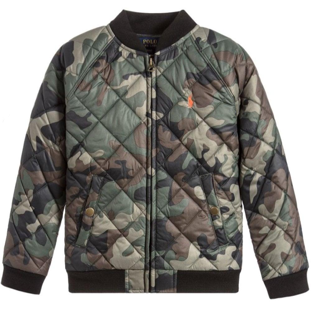 Ralph Lauren Kids Camo Print Jacket Colour: MULTI COLOURED, Size: 6 YEARS