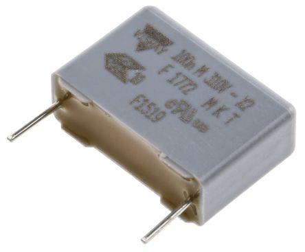 Vishay 100nF Polyester Capacitor PET 310V ac ±20%, Through Hole (20)