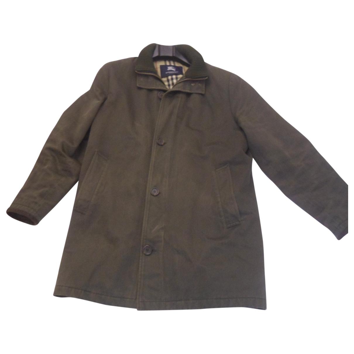 Burberry \N Green Cotton coat  for Men 50 IT
