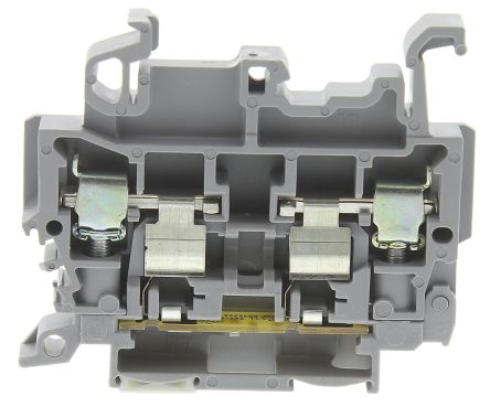 Entrelec , M, 600 V Fused DIN Rail Terminal, Screw Clamp Termination, Grey (5)