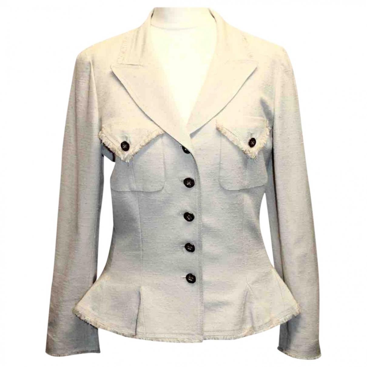 Chanel - Veste   pour femme en soie - beige